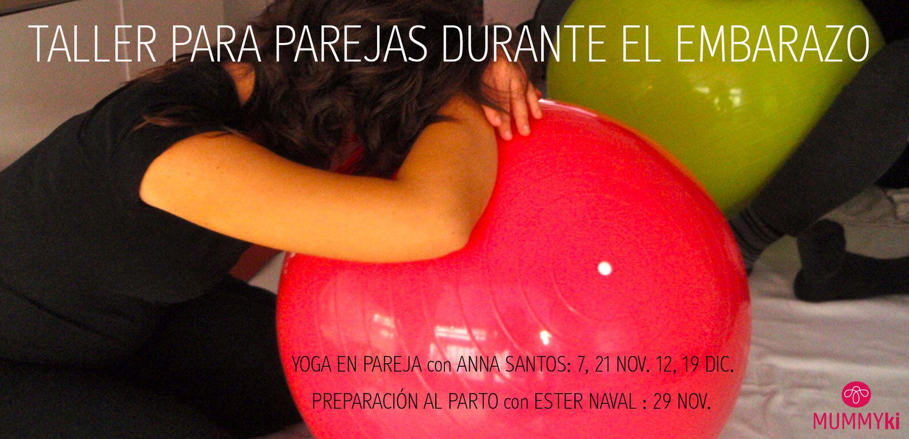 Yoga parejas durante el embarazo en Mummyki