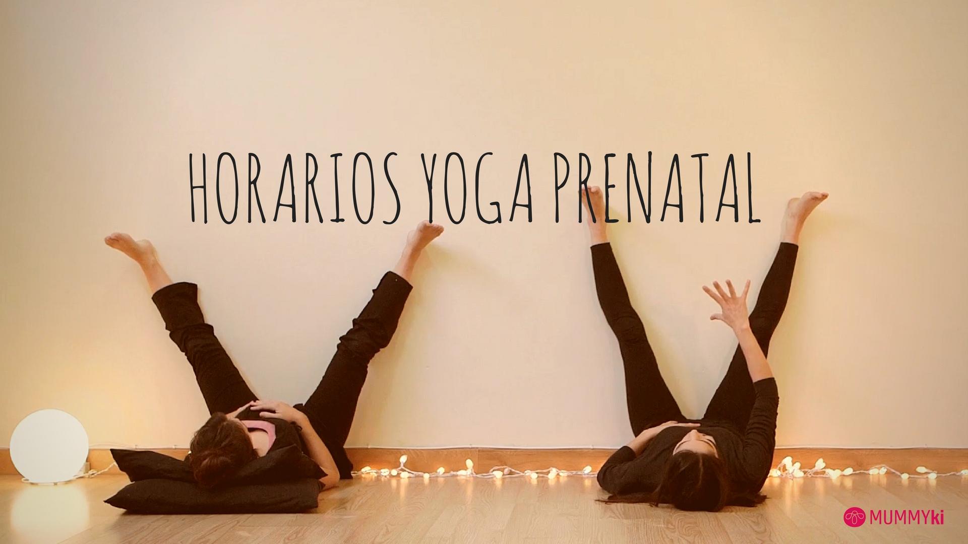 horarios yoga prenatal con Anna Santos de Mummyki